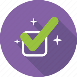 accepted check mark, approved, tick, verified icon