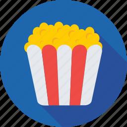 food, kettle corn, popcorn, popping corn, snacks icon