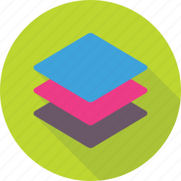 design, element, layers, squares, stack icon