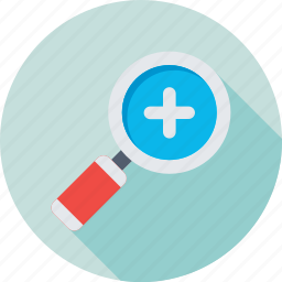 magnifying glass, maximize, plus, search, zoom in icon