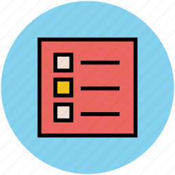 agenda, bulleted list, catalogue, checklist, index, list, report icon