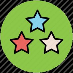 favorite, like, luminary, stars, three stars icon