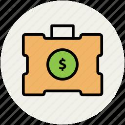 cash bag, currency bag, finance, money bag, savings icon