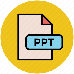file extension, file format, file type, ppt, text file type icon
