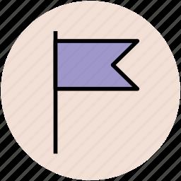 ensign, flag, location flag, map flag, table flag icon