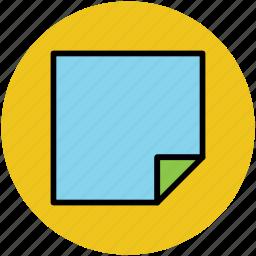 empty, message, notepad, office supply, stationery, sticky note, sticky paper icon