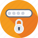 lock, padlock, passcode, password, security icon
