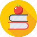 apple, diet, food, fruit, study icon