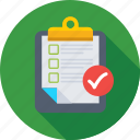 article, checklist, memo, note, verified document icon