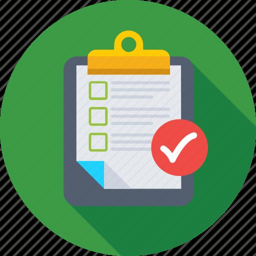 article, checklist, memo, note, verified document icon