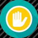block, conclude, hand gesture, stop, stop sign