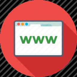 domain, internet, web, website, www icon