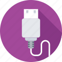 cable connector, usb cable, usb connector, usb cord, usb wire icon