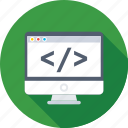 coding, div, div coding, html, source code icon