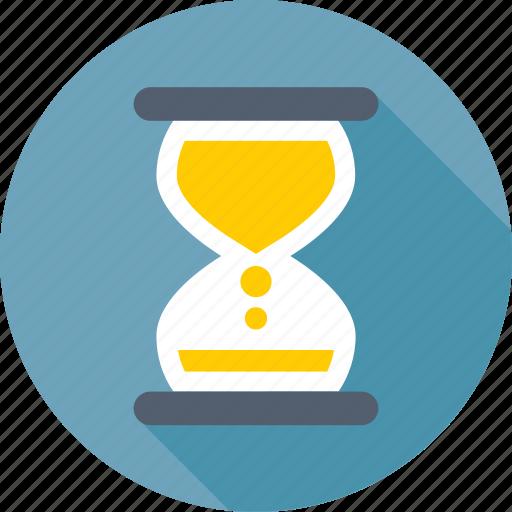 egg timer, hourglass, sand clock, sand timer, timer icon
