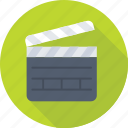 clapboard, clapper, clapper board, music clapboard, shooting clapper icon