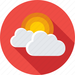 cloud, forecast, sun rising, sunshine, weather icon