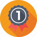 badge, first position, first rank, position badge, quality icon
