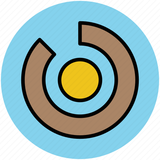 chart, chart doughnut, circle graph, graph, infographic, stats icon