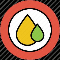 blood, drops, falling drops, oil, rain, tear, two drops, water icon