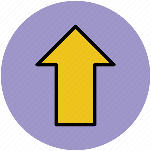 arrow, direction, hint, indicator, pointer, up, upward icon