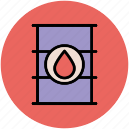 cylinder, oil barrel, oil container, oil drop, oil drum, oil refinery icon