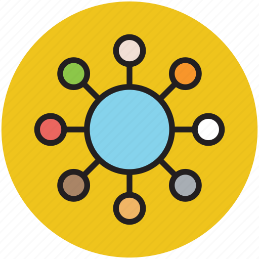 communication, hierarchy, network, people group, social network, team icon