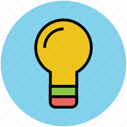 bulb, electric, illuminated, lightbulb, luminaire icon