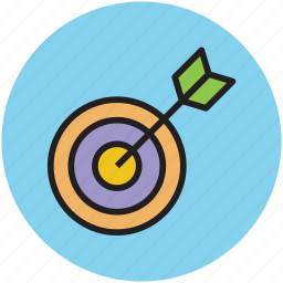 achievement, aim, dart, dartboard, goal, target icon