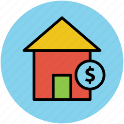 dollar sign, expensive home, for sale, home, house for sale, luxury house, property value, value icon