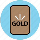 finance, gold, gold bar, golden brick, precious, savings, stock, trade icon