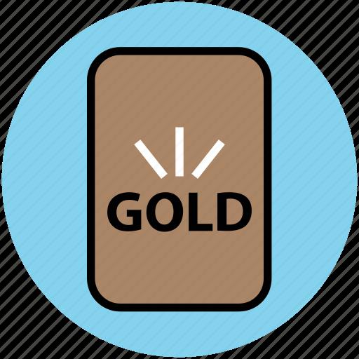 finance, gold, gold bar, golden brick, precious, savings, stock, trade icon