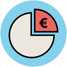chart, euro sign, graph, infographic, pie graph, piechart, stats icon