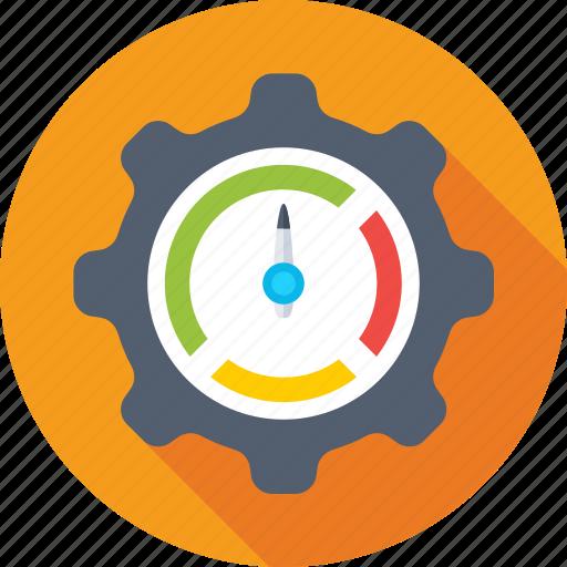 analytics, cog, pie chart, pie graph, statistics icon