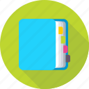 catalogue, diary, memo book, notebook, notepad icon