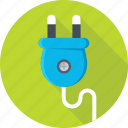 electrical plug, plug, plug connector, power, power plug icon