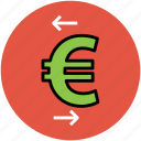 arrows, currency value, euro, finance, infographic element, left and right, stock market icon