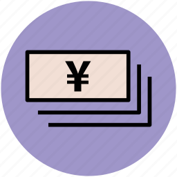 bank, banknotes, currency, finance, notes bundle, paper money, wealth, yen icon