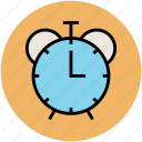 alarm clock, morning alarm, retro timer, timepiece, watch icon
