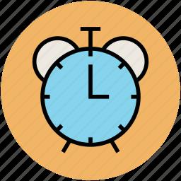 alarm clock, morning alarm, retro timer, timepiece, watch icon