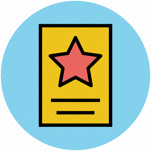 achievement, best, certificate, star award, success icon