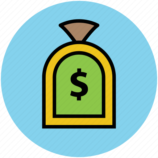 dollar sign, finance, investment, money pouch, money sack, saving icon