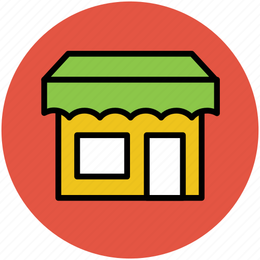 kiosk, market, market place, shop, stall, stand, store icon