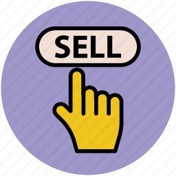 hand touch, infographic element, online business, sell, web element icon