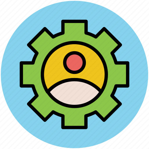 employee, engineer, gear, infographic element, man, mechanic icon