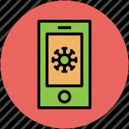 display, gear, innovative idea, mobile, mobile screen, mobile setting icon