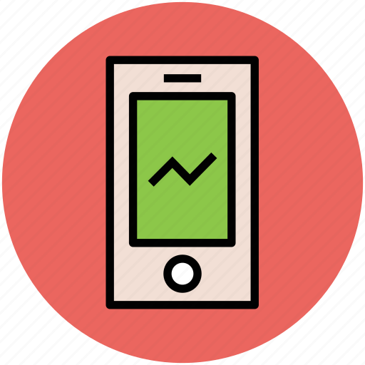 graph, graph line, mobile, mobile communications, mobile internet, mobile technology icon