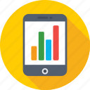 analytics, infographic, mobile, mobile graph, online graph