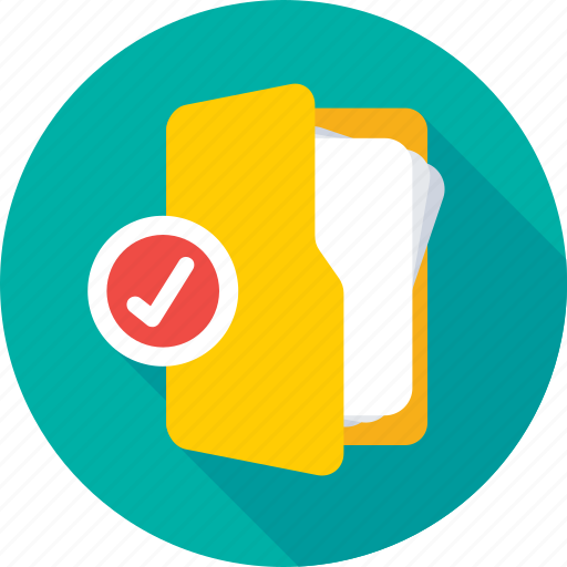 accepted, approved, folder approved, folder success, tick icon