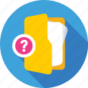 faq, faq folder, folder, question mark, questionnaire icon